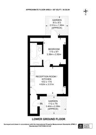 Large floorplan for Arbour Square, Stepney, E1