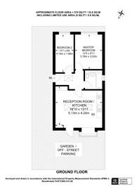 Large floorplan for Abbotts Road, North Cheam, SM3