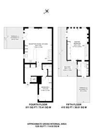 Large floorplan for Disney Place, Southwark, SE1