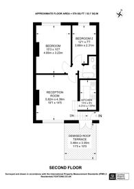 Large floorplan for Churchfield Road, Acton, W3