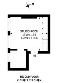 Large floorplan for New Row, Covent Garden, WC2N
