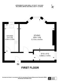 Large floorplan for Colyton Road, East Dulwich, SE22