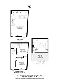 Large floorplan for Harberson Road, Balham, SW12