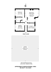 Large floorplan for Cavendish Avenue, West Ealing, W13