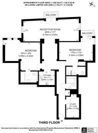 Large floorplan for St Johns Building, Marsham Street, Westminster, SW1P