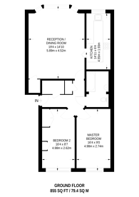 Large floorplan for Anguilla House, Holloway, N7
