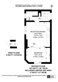 Large floorplan for Hillgate Street, Kensington, W8