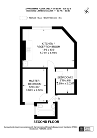 Large floorplan for Richmond Road, East Twickenham, TW1