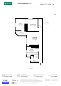 Large floorplan for Victoria Park Square, Bethnal Green, E2