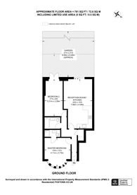 Large floorplan for Queens Walk, Harrow, HA1