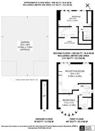 Large floorplan for Queens Walk, Harrow, HA1