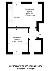 Large floorplan for Rutland Walk, Catford, SE6