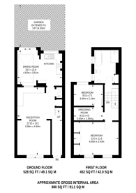 Large floorplan for Baxendale Street, Columbia Road, E2