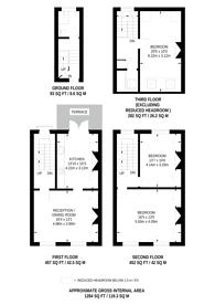 Large floorplan for Loraine Road, Islington, N7