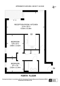 Large floorplan for London Fileds, Hackney, E8