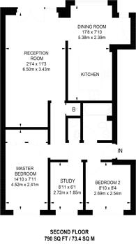 Large floorplan for Maynards Quay, Wapping, E1W