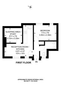Large floorplan for Vincent Street, Westminster, SW1P