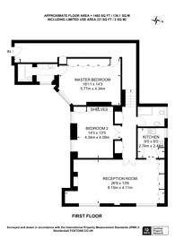 Large floorplan for Montagu Mansions, Marylebone, W1U