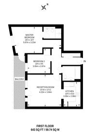 Large floorplan for Stanley Road, South Harrow, HA2