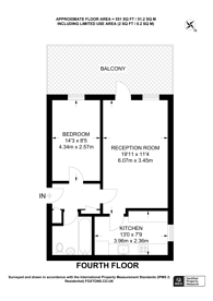 Large floorplan for Noel Coward House, Pimlico, SW1V