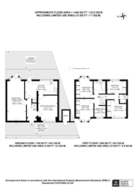 Large floorplan for Lynmouth Gardens, Perivale, UB6