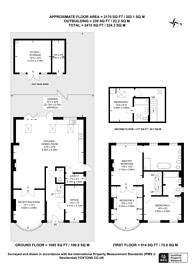 Large floorplan for Kings Drive, Berrylands, KT5