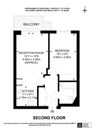 Large floorplan for Empire Way, Wembley Park, HA9