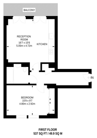 Large floorplan for Chiswick, Chiswick, W6