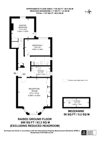 Large floorplan for Colville Gardens, Notting Hill, W11
