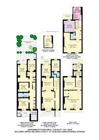 Large floorplan for Thurloe Street, South Kensington, SW7