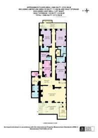 Large floorplan for Cadogan Square, Sloane Square, SW1X