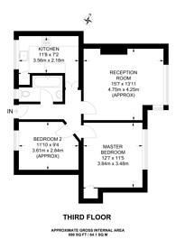 Large floorplan for Damien Street, Whitechapel, E1