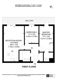 Large floorplan for Cordelia Street, Canary Wharf, E14