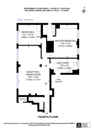 Large floorplan for Cottesmore Court, Stanford Road, Kensington, W8