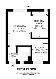Large floorplan for Miles Court, Tillman Street, Shadwell, E1
