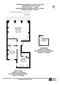 Large floorplan for Ovington Gardens, Knightsbridge, SW3