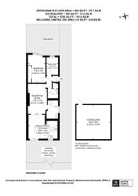 Large floorplan for Linthorpe Avenue, Sudbury, HA0