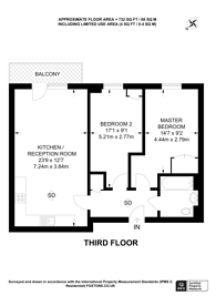 Large floorplan for Oakfield Road, Croydon, CR0