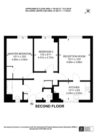 Large floorplan for Harben Road, Swiss Cottage, NW6