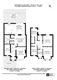 Large floorplan for Leaver Gardens, Greenford, UB6