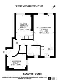 Large floorplan for Clifton Terrace, Finsbury Park, N4