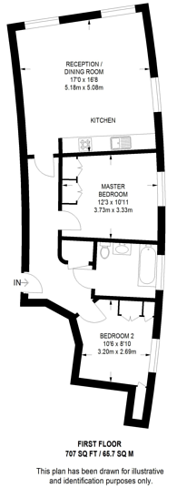 Large floorplan for Swains Lane, Highgate, N6