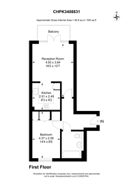 Large floorplan for Stepney Way, Stepney, E1