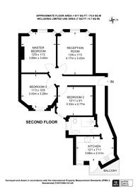Large floorplan for Luxborough Street, Marylebone, W1U