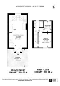 Large floorplan for Choumert Square, Peckham, SE15