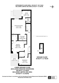 Large floorplan for Inverness Terrace, Bayswater, W2