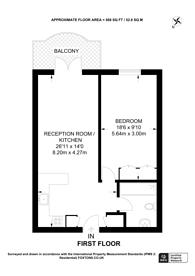 Large floorplan for Jardine Road, Limehouse, E1W