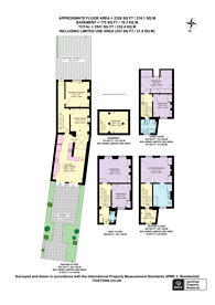 Large floorplan for Abercorn Place, St John's Wood, NW8