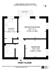 Large floorplan for Major Close, Brixton, SW9