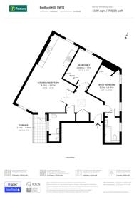 Large floorplan for Bedford Hill, Balham, SW12